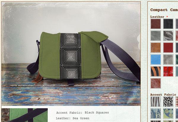 Compact camera bag on the bag builder.